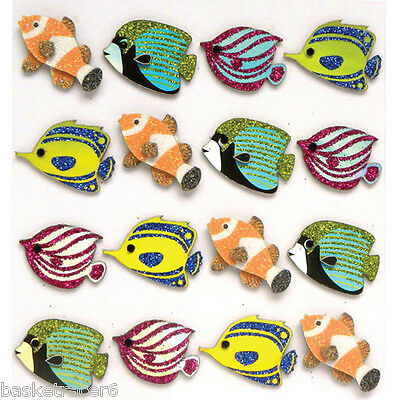 Jolee/'s Boutique 3D Stickers Fish Repeats tropical fishes