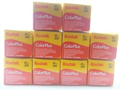 10x KODAK COLORPLUS 200 35mm 24Exp CHEAP COLOUR PRINT FILM -1st CLASS ROYAL MAIL