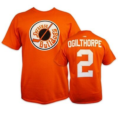 SlapShot movie  Syracuse BULLDOGS #2 OGILTHORPE T-shirt