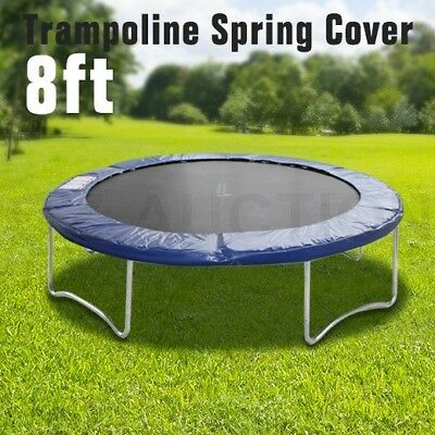 8ft Round Outdoor Trampoline Safety Replacement Spring Pad Cover