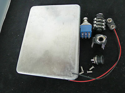 Diecast Metal effects Pedal Project Box Jack True Bypass Switch Kit 34X128X90