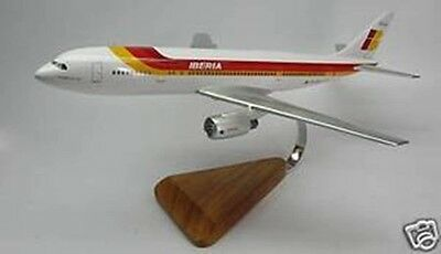 A-300 Airbus Iberia Air Airplane Replica Wood Model Small New