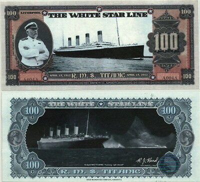 SERIAL NUMBER ONE RMS TITANIC FANTASY ART 100TH ANNIVERSARY NOTE w/FREE BONUS!