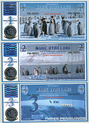 Wow! Serial # 8 Marie Byrd Land 6-Note Penguino Fantasy Matched Set 1.11.11!!