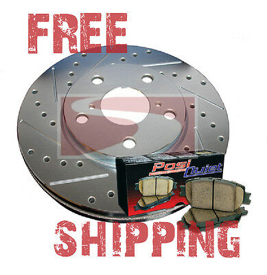Drill Slot Brake Rotors POSI QUIET Ceramic Pads Park Avenue Ultra 03-05 F/&R