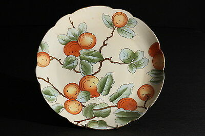 Vintage Vienna Hand Painted China Fruit Plate Signed Oranges Peaches
