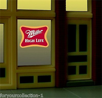 MILLER ENGINEERING MILLER HIGHLIFE ANIMATED LIGHTED WINDOW train lionel 7777 NEW