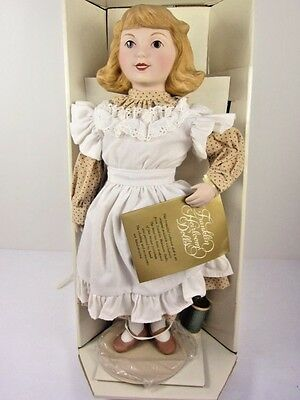 Franklin Mint Advertising Doll Country Store COATS & CLARK Thread Boxed