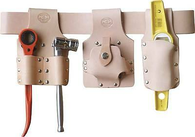 Scaffolding Tool Belt Set - Premium Tan Leather - With Top Brand Scaffold Tools