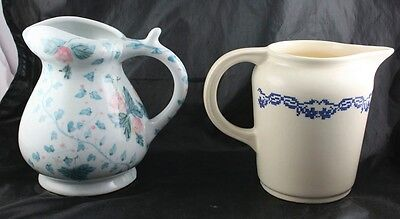 Lot of 2 China Creamer Pitchers Ethan Allen & Empress Ivory Universal  l3y20