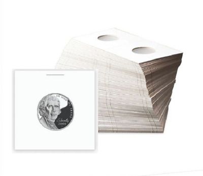 (100) BCW Nickel Paper Flips 2x2 Coin Holders Archival Safe Protection