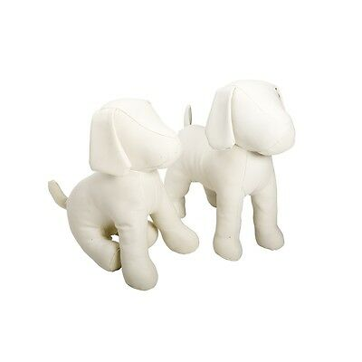 New white or blue Cleo dog mannequin retail display model for pet accessories