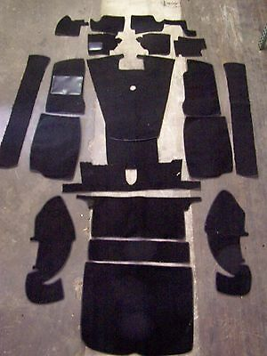Mgb-Gt 68-75 Black Loop Carpet Kit With 20 Ounce Padding