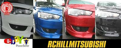 2010 2012 2013 Mitsubishi Lancer Sportback Front Ground Effects Rally Red