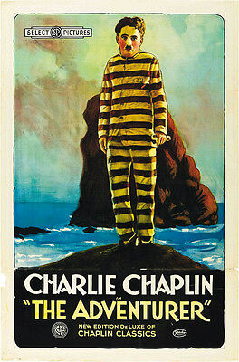 The Adventurer (1917) Charlie Chaplin movie poster 24x36 inches