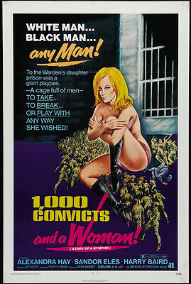 1000 Convicts and a Woman Story of a Nympho Theatrical release repro 24x36 inch