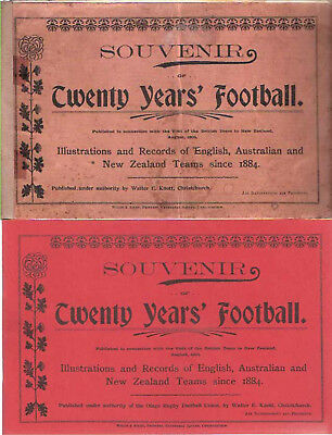 """""""SOUVENIR OF TWENTY YEARS FOOTBALL"""" PUBLISHED by WALTER E KNOTT LIONS TOUR 1904"""