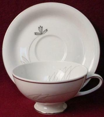 TREASURE CHEST china CAPRICE A1091 pattern CUP & SAUCER Set
