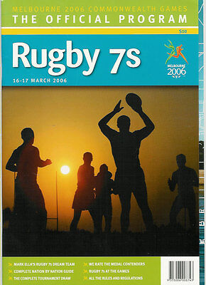 Commonwealth Games Sevens Rugby Programme Melbourne 2006