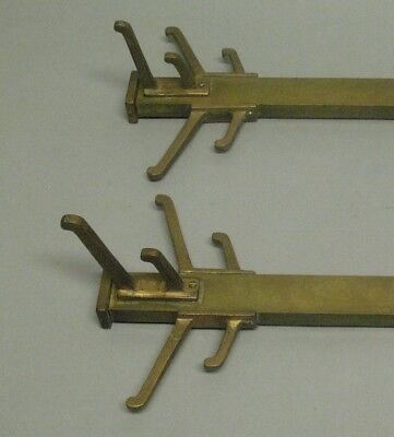 Fine Pair of Arts & Crafts Prairie Style Coat Racks from Historic Home  c. 1910