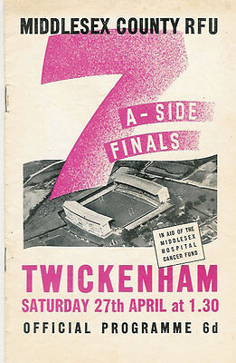 MIDDLESEX SEVENS 1946 RUGBY PROG St MARY'S HOSPITAL NOTTINGHAM CARDIFF NZ KIWIS