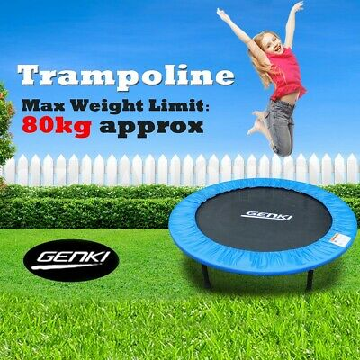 "40"" Mini Trampoline Fitness Rebounder Jogger Home Gym Exercise w/ Padding Cover"