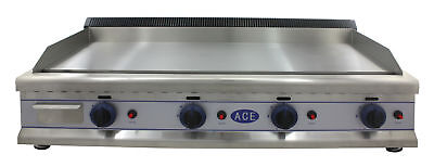 "NEW ACE HEAVY DUTY NATURAL GAS GRIDDLE HOTPLATE 110cm 43""bed"