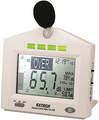 Extech SL130 Continuous Sound / Noise Level Monitor Alert Noise Meter
