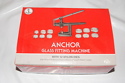 Glass Fitting Machine With 12 Dies New Watch  Tools Clock Tools
