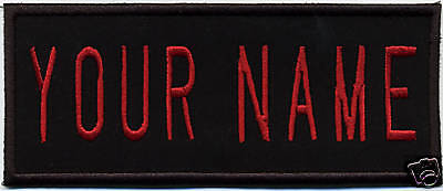 "TODDLER Size, Iron-On Custom Ghostbusters 2 style - Name Tag Patch - ""YOUR NAME"""