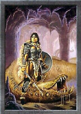 DRAGON POSTER ~ WORM HAS TURNED 24x36 Dragons Knight Clyde Caldwell Art