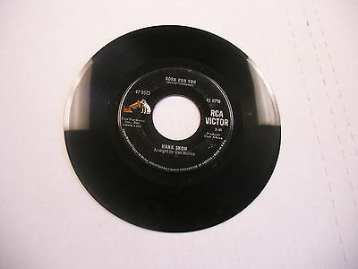 Hank Snow Born For You/The Late And Great Love 45 RPM RCA Victor Records