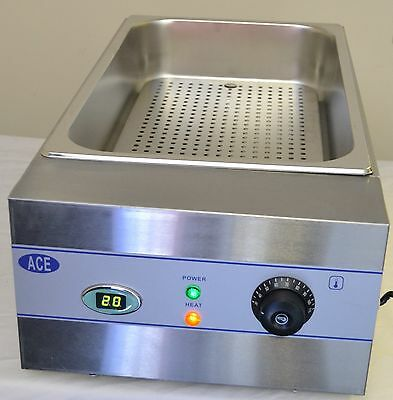 LARGE CHIP SCUTTLE BAIN MARIE DIGI DISPLAY free P&P