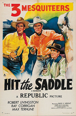 Bob Livingstone Cult Western movie poster print 2 Call the Mesquiteers 1938