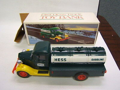 Hess Truck First Hess Truck Toy Bank battery tanker Excellent Cond