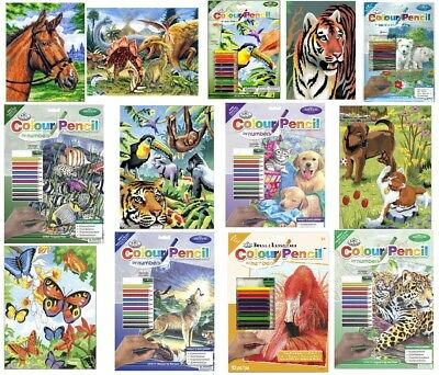 37 X A4 & A5 Pictures To Choose From Colour Pencil By Numbers Art Kits Not Paint