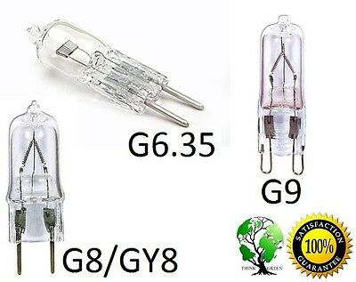 Pack of 5, Ultra Halogen Bi-Pin 120V Volt Bulb (G6.35 GY6.35 G8 GY8 G9) base