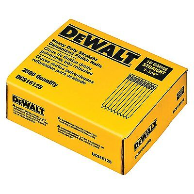 DEWALT 1-1/4-Inch by 16 Gauge Straight Finish Nail 2,500 per Box #DCS16125