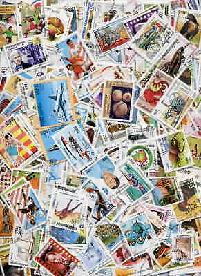 500 Pictorial Stamps From Cambodia - No Duplicates - No Damaged Or Hinged!
