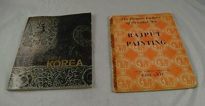Lot of 2 Asian Books 1971 Korea & Rajput Painting Pitman Gallery Oriental Art