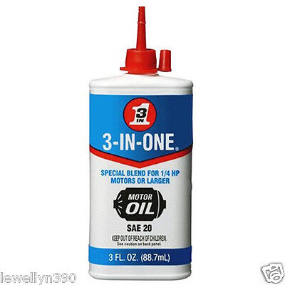 3oz ELECTRIC MOTOR OIL 3 in 1 for 1/4 HP or larger NEW!