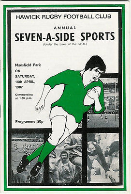 Hawick Sevens 1987 Rugby Programme