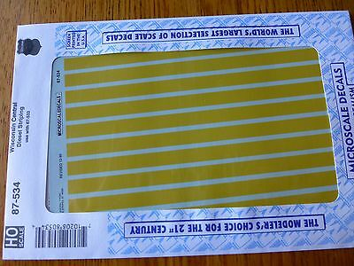 Microscale Decal 87-1058 Rio Grande Striping For Diesels /& Passenger Cars