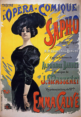 AP142 Vintage 1896 French Carnival Theatre Opera Advertisement Poster Card A5