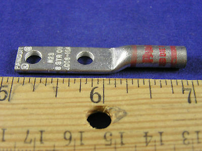 "Red 1//4/""Bolt PANDUIT LCD8-14A-L #8 Awg Lug 2Hole W//Peep pkg 10 5//8/""Space"