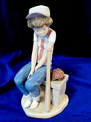 Lladro #5291 Little Leaguer Brand Nib Boy Baseball Rare $255 Off Free Shipping