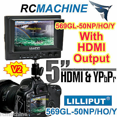 "New Lilliput 5"" 569GL-50NP/HO/Y HDMI IN & OUT On camera video field Monitor"