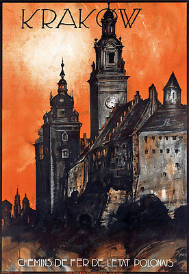 T74 Vintage Krakow Poland Polish Travel Poster Re-Print A4