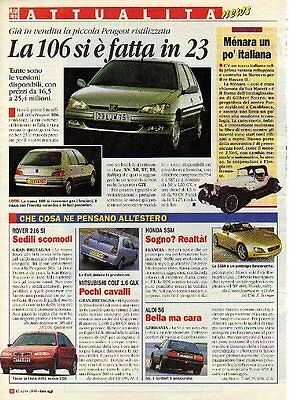 Z93 Ritaglio Clipping 1996 restyling Peugeot 106