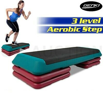 Aerobic Gym Workout Exercise Cardio Fitness 4 Block Bench Step Level Stepper